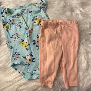 Carter's Baby Girl 2 piece outfit size 6 months